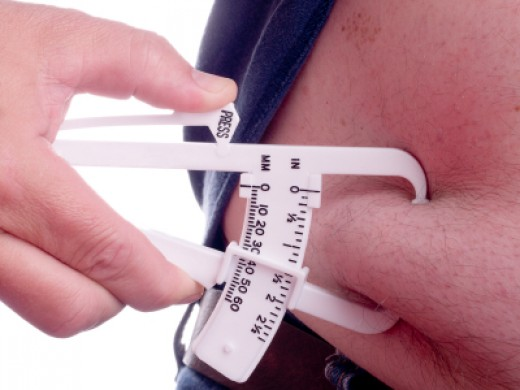 A special tool is used to determine body mass index or BMI.