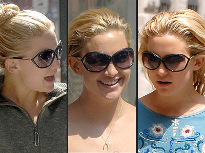 Kate Hudson in Tom Ford Sunglasses (Square face shape)