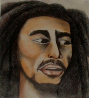 I did this when I was 16, in my high school sketchbook, if you don't like Reggae much it's Bob Marley