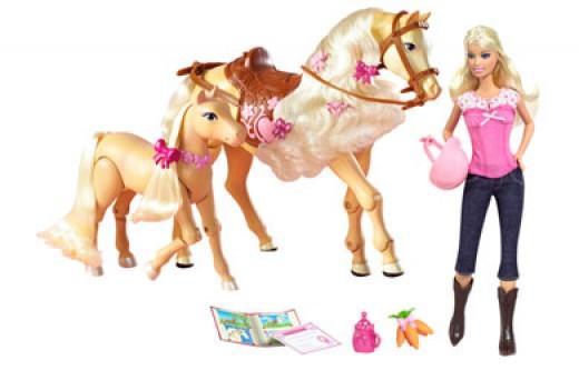 Barbie and Tawney - photo courtesy of thetoyshop.com