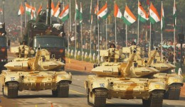 Indian military tanks displaying military strength of India.
