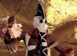 A Dogon Mask Dancer