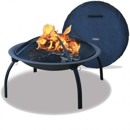 Wood burning fire pit.