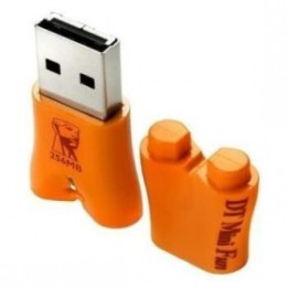 Kingston 256 MB Data Traveler Mini Fun USB Flash Drive--Orange