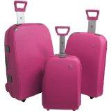 Hard pink luggage set - trendy!