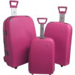 Hard pink luggage set - trendy!