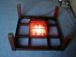 Underside of a kotatsu