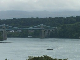Menai Strait, a small but dangerous stretch of water that separates main land Wales and Anglesey