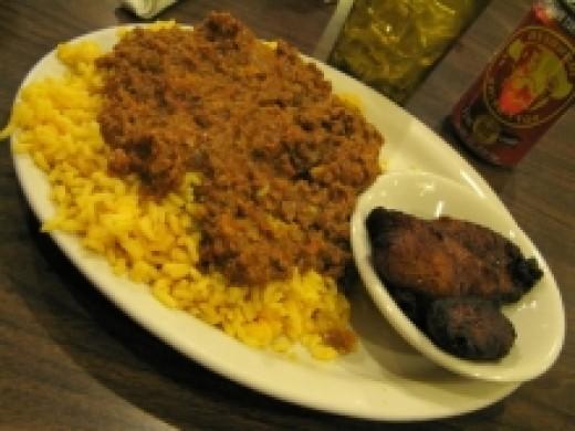 Cuban Picadillo over Rice
