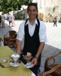 Taking a break in Ravello. What's Italy without gelato?