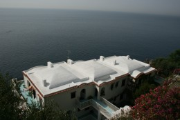 We rented a villa in this beautiful white structure