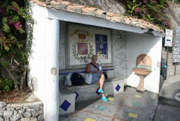 Even the bus stop in Praiano is cute