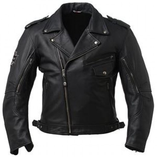 "Many people feel that the biker-style leather jacket is the ""classic"" image of the garment."