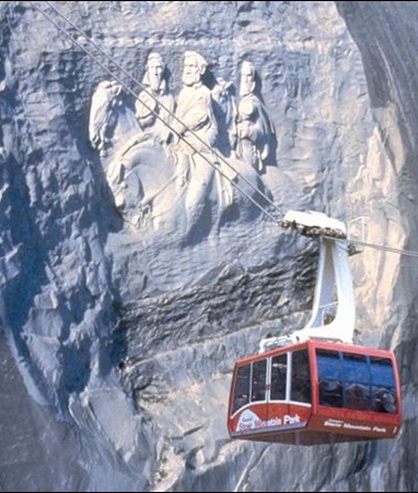 Stone Mountain is one of the most popular Atlanta attractions.