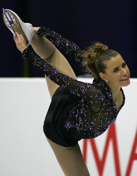 Cynthia Phaneuf of Canada performs during the Ladies Free skating for the International Skating Union (ISU)