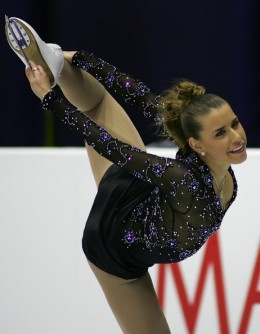 Cynthia Phaneuf of Canada performs during the Ladies Free skating for the International Skating Union (ISU)