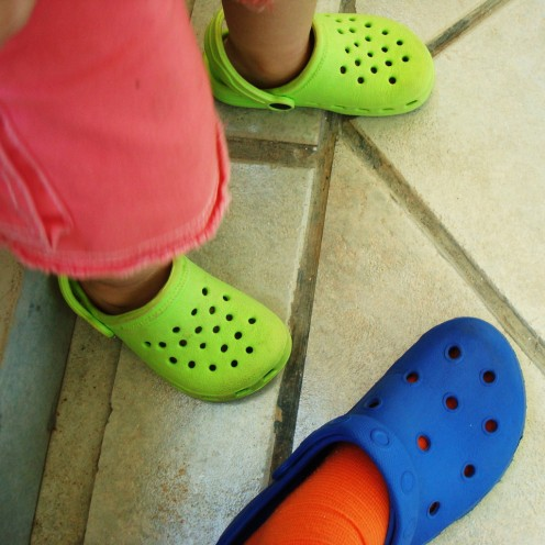 Bright Crocs Clogs For Being Seen!
