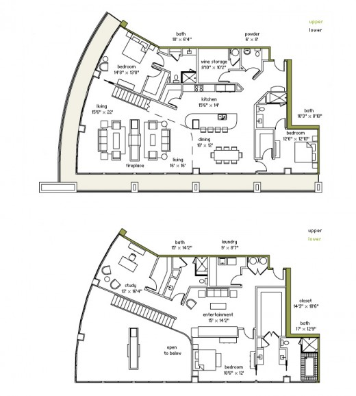 Taylor Swift's penthouse layout (The Real Estalker)