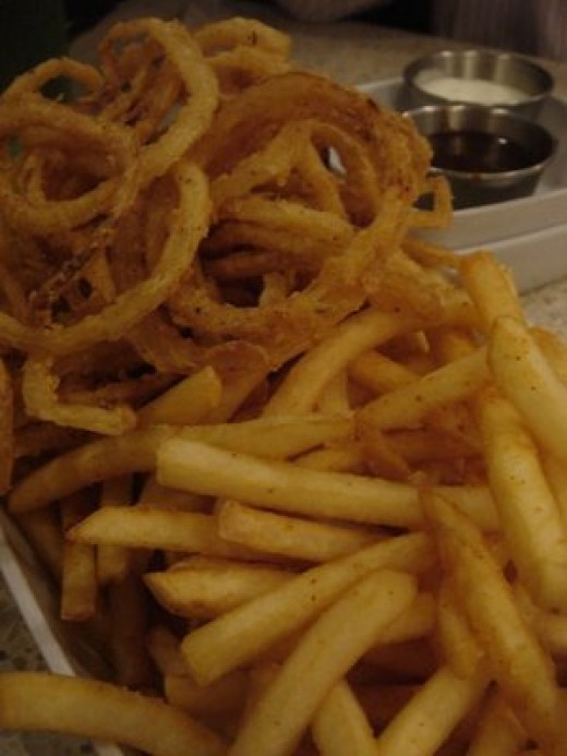 Avoid french fries and onion rings