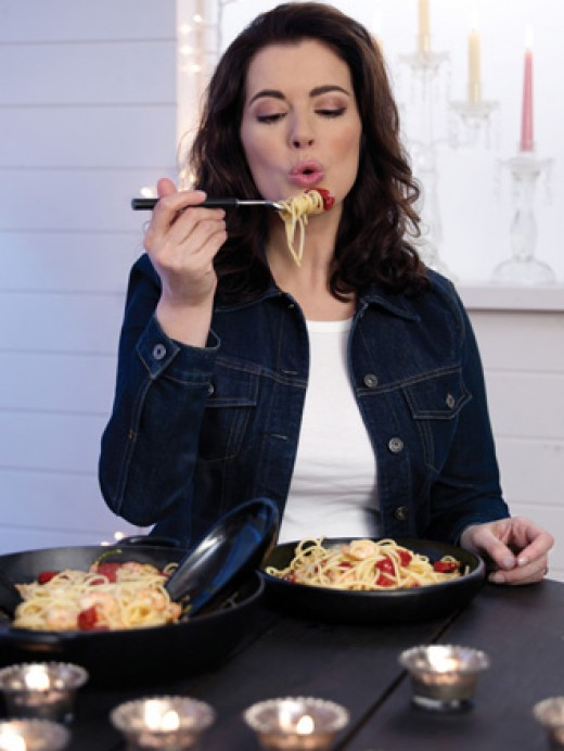 Nigella likes to personally test all her culinary creations on her program.