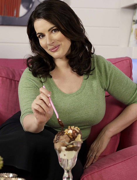 Nigella's cookbooks have many recipes for her incredible ice cream creations.