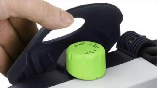 the bevel lock knob