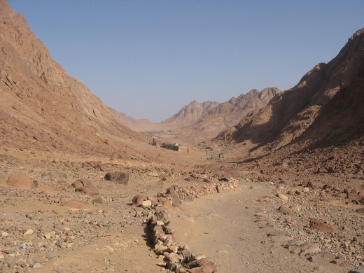 The path leading up Mt. Sinai, looking back