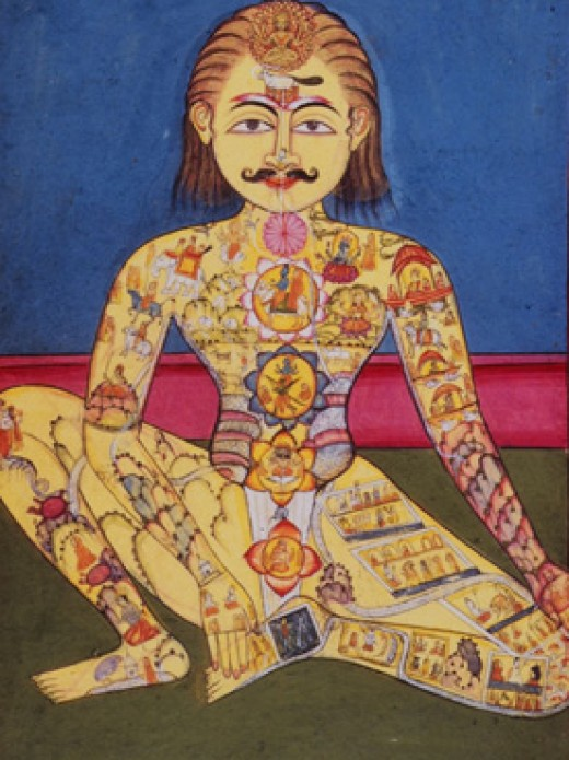 Kundalini pose in yoga - Feeling all the powers inside