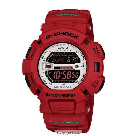 Casio G-Shock Mudman Red Watch