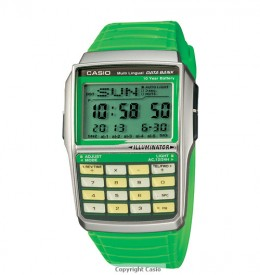 Casio Databank Calculator Green Watch