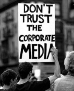 Media Activists make their views and feelings known in regards to the media