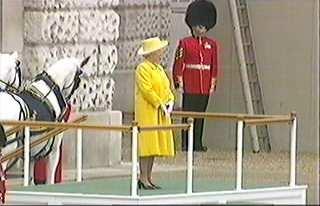 Her Majesty on the dias