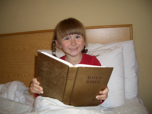 When children either are read to, or read from the Bible themselves... you, will see instantly the light of Christ in their eyes.  This is truth that can only come by the power of His words...