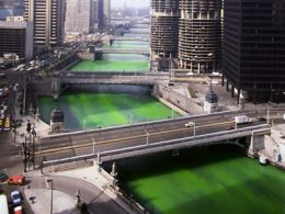 What's St. Patrick's Day without a green river?