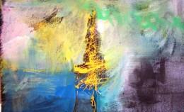 """The Truth Dazzles Gradually"" Mixed-Media by Vasken Brudian"