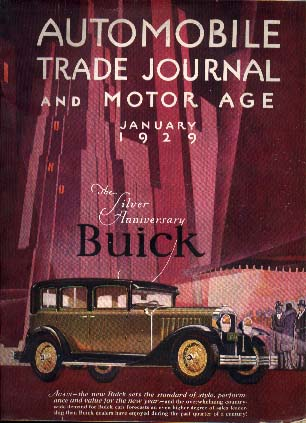 1929 Automobile Trade Journal and Motor Age showcasing a Buick