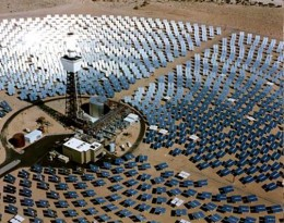 one of the solar arrays of the Mojave Solar Park