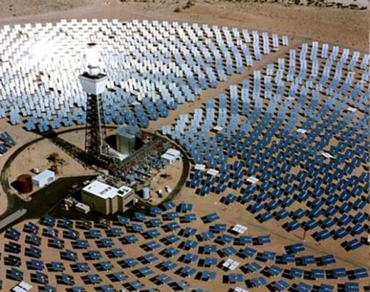 one of the solar arrays of the Mojave Solar Park