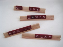 Scrabble can be more than a relaxing game.  It can be an important opportunity!