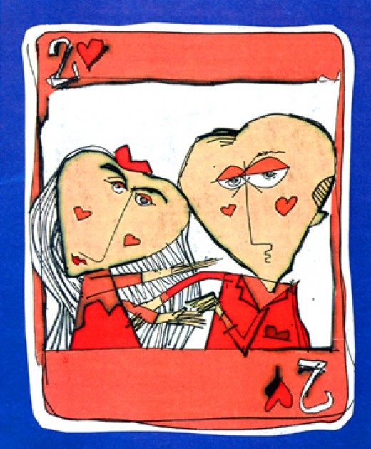 Two of Hearts by rick zimmerman