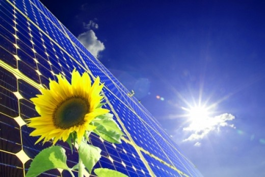 . . . Sun, Solar Panel and Sunflower . . . image credit: stockxpert Francis50