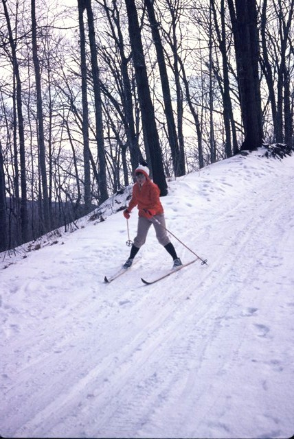 A Skier on the Trail during Canadian Ski Marathon in Quebec.