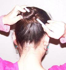 Stick Pencil in Hair Bun