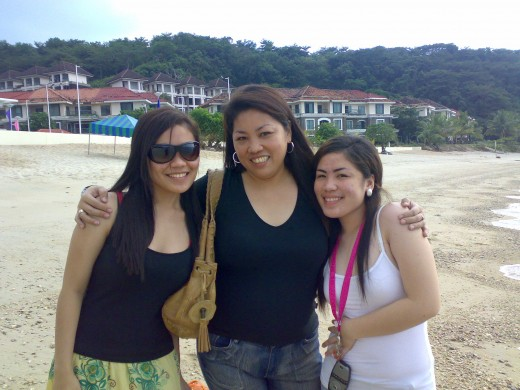 With my daughters Sarah and Justine at the Canyon Cove