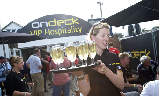 On deck corporate hospitality