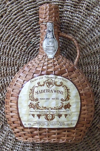 Typical Madeiran Wine Presentation Bottle