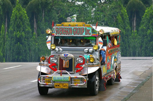jeepney mode of transportation in the area and throughout Philippines