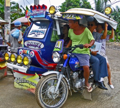 tricycle mode of transportation in the area as well and all over the Philippines