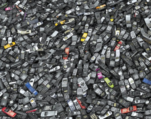 Recycling phone because they are changing so fast and now create a dependency on the users to keep up with the new ones - People are cultural depended on new technologies like they change fashion clothing