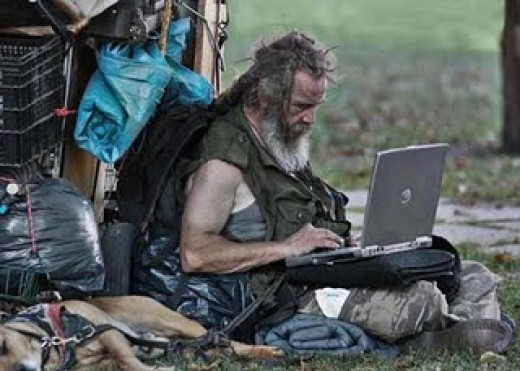 Homeless or not, getting hooked up and Web surfing is no longer the realm of the housed and better, but technological dependency and usage is open to all, no matter ones' social or life station